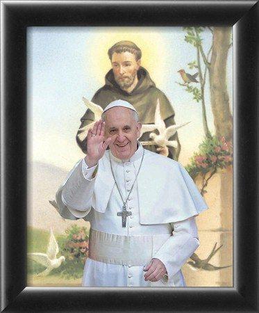Imagem do Papa Francisco e São Francisco
