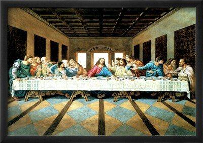 Ultima Ceia de DaVinci - Jesus com os Apóstolos