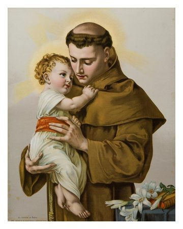 Imagem de Santo Antônio de Pádua com o Menino Jesus